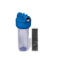 Магістральний вугільний фільтр Formula Vody з картриджем Slim 10'' СТО