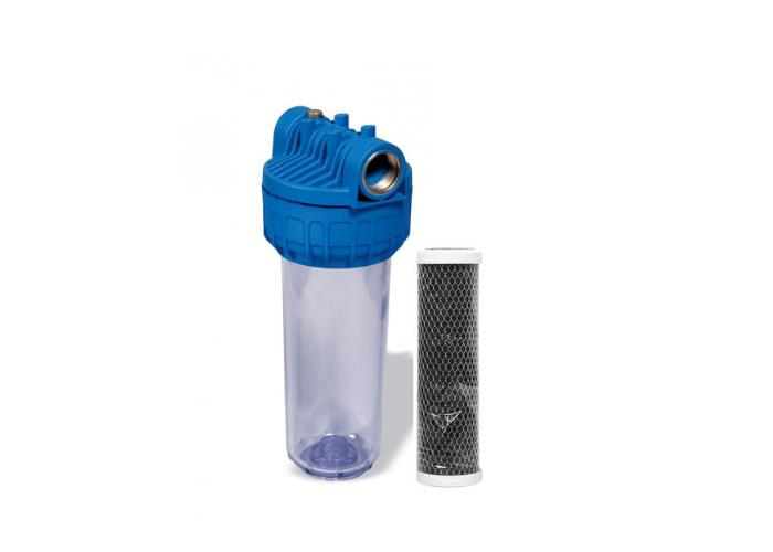 Магистральный угольный фильтр Formula Vody с картриджем Slim 10'' СТО
