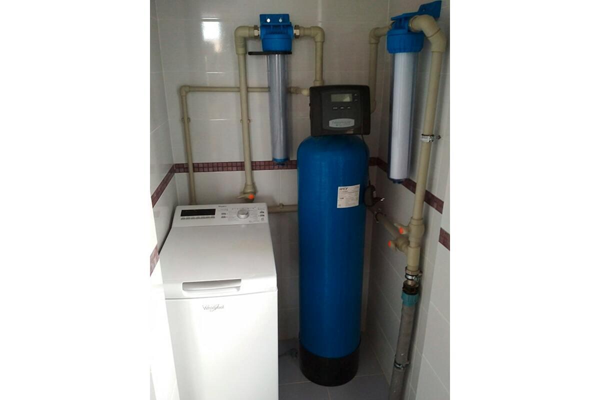 Установка системы обезжелезивания воды IRON CLEAR