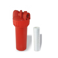 Фільтр механічної очистки для гарячої води Formula Vody типу SLIM 10'' (hot)