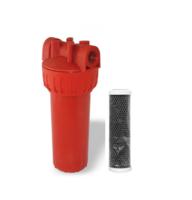 Магістральний вугільний фільтр для гарячої води Formula Vody типу Slim 10'' СТО (hot)