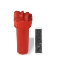Магистральный угольный фильтр для горячей воды Formula Vody типа Slim 10'' СТО (hot)