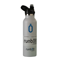 Бутылка для воды KINETICO RUNBOTT 600 мл, белая с колпачком
