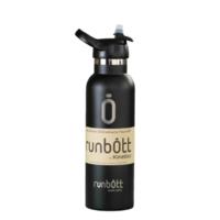 Пляшка для води KINETICO RUNBOTT 600 мл, чорна з ковпачком